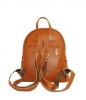 Leather backpack 2523 brown 2