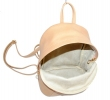 Leather backpack 2517 beige 6
